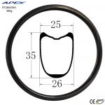 2018 hot sale road-bike-rim width carbon road rim RT26W35H