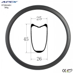 Good quality haro-bike-rims carbon road rim RT26W45H