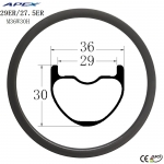 29ER AM ENDURO carbon fiber mtb rims factory direct all mountain bicycle rim M36W30H